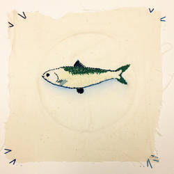Stitched Fish #1 by adeline-renee