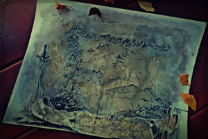 Map of Mordor by The-girl-in-Mirkwood