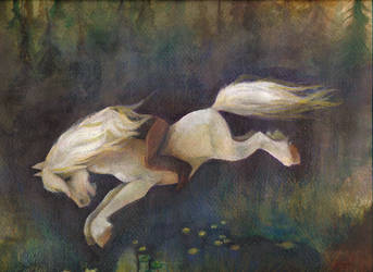 The Nix as a white horse by The-girl-in-Mirkwood