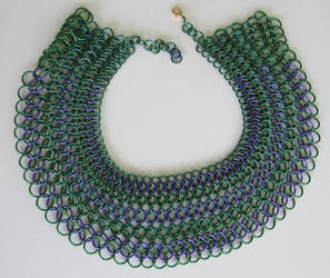 Egyptian Collar in Green and Purple by BardicKitty