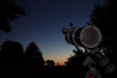 Venus and Jupiter conjunction by alkhor