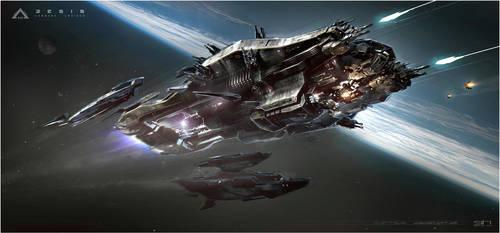 Jupiter Ascending Aegis Concept Art by Kamikage86