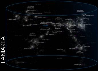 Laniakea Supercluster by Kamikage86