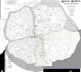 Battletech Inner Sphere Houses Map by Kamikage86