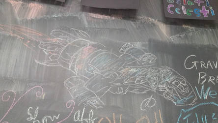 Chalk drawing of Serenity at Gelati Celesti by dolst