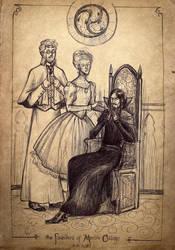 The Founders of Merlin College, sketch by Sigune