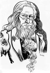 Dumbledore (Inktober) by Sigune