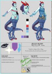 Blue Ruby - Eyedra Custom by MutationIvo