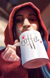 Morning Coffee by eL-HiNO