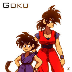 Goku - You look... different by LovetheTrub