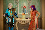 Saga Frontier-Magician Blue and Mei-Ren by FyreGothChylde