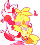 Mangle and Toy Chica by UniverseHole