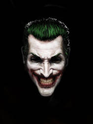 Joker Face Finished - Smile by brandonledgerwood
