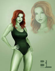 Poison Ivy Pin-Up by brandonledgerwood