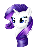 My Little Pony - Rarity Headshot 14.04.2015 by Kotezio
