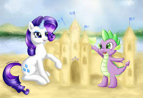 [COMMISSION] Rarity and Spike 01.07.2015 by Kotezio