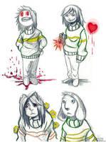 Good, bad, fallen Chara by Vass-RieH