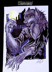 Woofktober (inktober + werewolves) Day 3: Antihero by LuCIoos