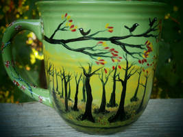 Autumn Meadow - Handpainted Mug by InkyDreamz
