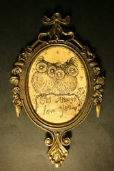 Owl Always Love You - Framed Art (for sale) by InkyDreamz