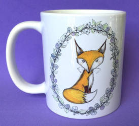 Fox Mug - available @ my etsy shop!  by InkyDreamz