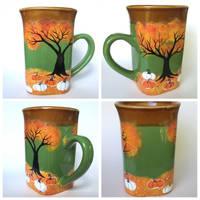 Fall Pumpkins Coffee Mug - New at my shop! by InkyDreamz
