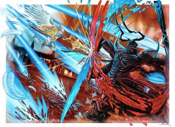 Paladin VS Ravana Final Fantasy 14 FAN ART by Phoenixboy