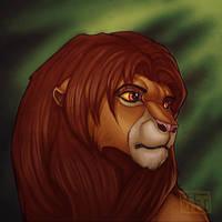 Simba Portrait by toshema