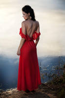 woman in the red by Aledgan