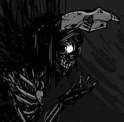 Sad Dead Robot Girl by ben-saint