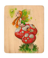 Mushroom Fairy by RenieDraws