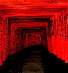 The Torri Gate Tunnel by ShadowsBlood