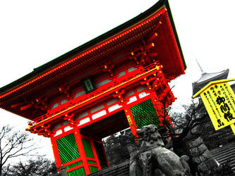 Temple on a rainy winters day by ShadowsBlood