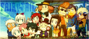 Fairy Tail Chibi Banner by klll100