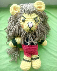 Gado the amigurumi lion by Pinksillycupcake