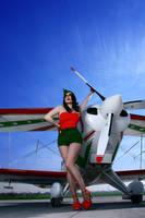 Pin Up Aviator Girl v.5 by hollowone