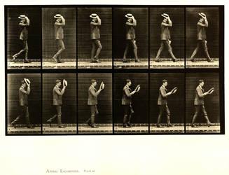 Man Taking Off Hat Eadweard Muybridge by gabriel444
