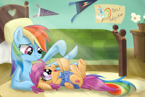 The best babysitter by RedheadFly