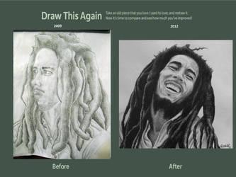 Draw This Again: Bob Marley by carlosvelasquezart