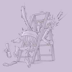 Commission - Neferpitou Tickling fest 5 (sketch) by KlaudSan