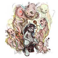 Commission: Throne of Ghosts by kvernikovskiy