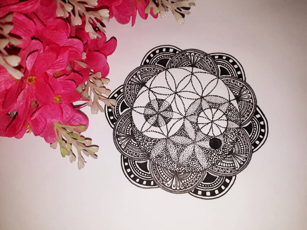 Flower Of Life Yin Yang Mandala By Pixiee21 On Deviantart