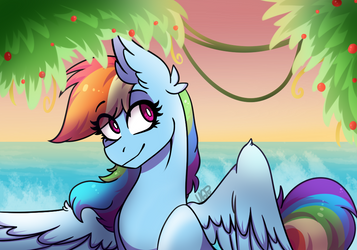 Sunset at the beach by Vale-Bandicoot96