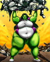 Super-Sized She Hulk by Ray-Norr