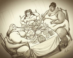 Dinner with Friends by Ray-Norr