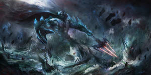 Darth Vader: Ruler of the sea V2 by BMJ-Metalik