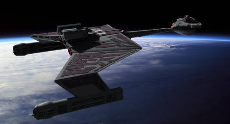 Klingon K't'inga class by thefirstfleet