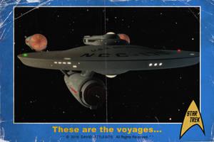 Enterprise vintage card by thefirstfleet