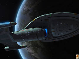 Voyager intro flyby by thefirstfleet