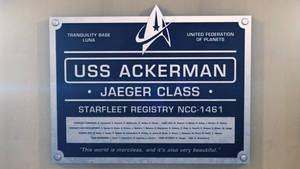 USS Ackerman dedication plaque by thefirstfleet